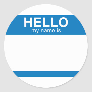 Hello My Name Is - Blue Stickers