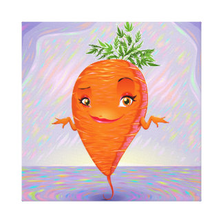 Hello My Name Is Carrot Canvas Print