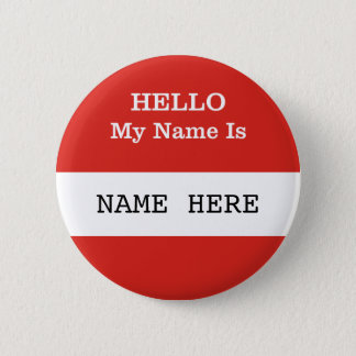 HELLO My Name Is Customizable Badge