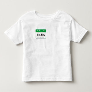 Hello My Name is:  Customize this Label! Toddler T-Shirt
