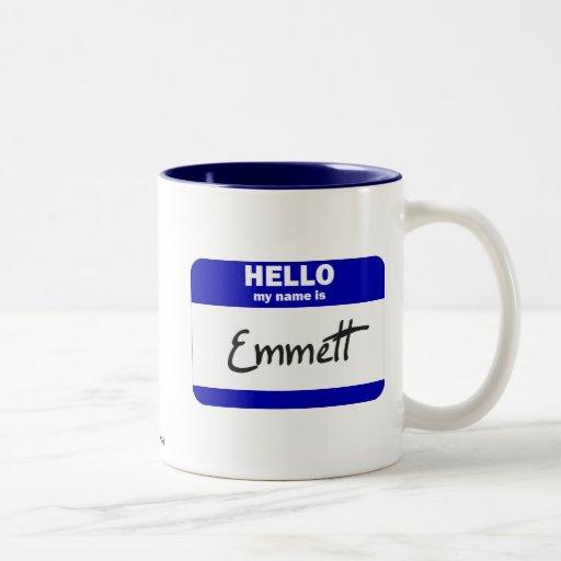 Hello My Name Is Emmett (Blue) Coffee Mug