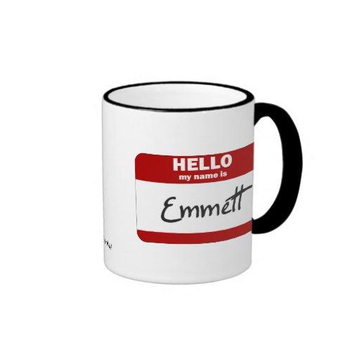 Hello My Name Is Emmett (Red) Mug