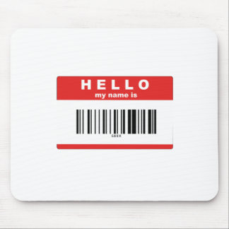 Hello, My Name Is Geek Barcode Mouse Pad