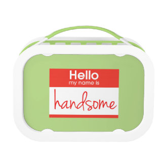 'Hello My Name Is Handsome' Lunch Box