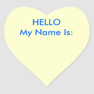 HELLO My Name Is: Heart Sticker