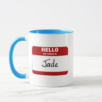 Hello My Name Is Jade (Red) Mug