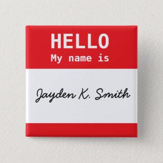 HELLO, My name is Jayden K Smith Humor Button