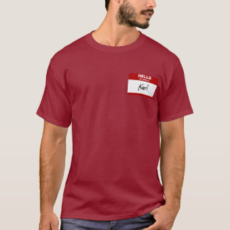 Hello My Name Is Karl (Red) T-Shirt