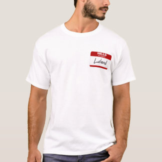 Hello My Name Is Leland (Red) T-Shirt