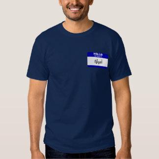 Hello My Name Is Nigel (Blue) Tee Shirts