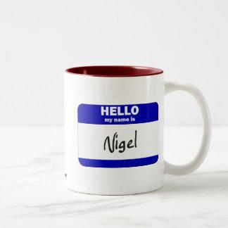 Hello My Name Is Nigel (Blue) Two-Tone Mug