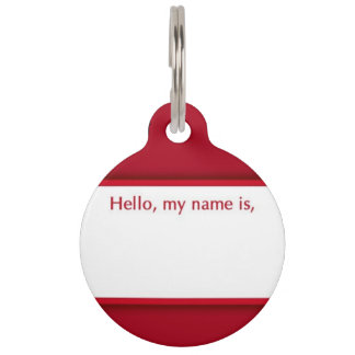 Hello, My Name Is Pet ID Tag