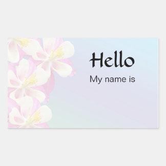 Hello, My Name Is Rectangular Sticker