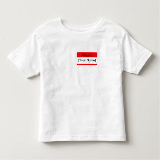Hello..my name is... Red Name Tag Toddler T-shirt