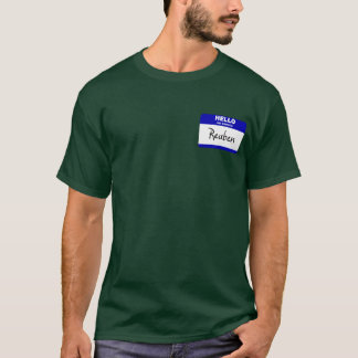 Hello My Name Is Reuben (Blue) T-Shirt