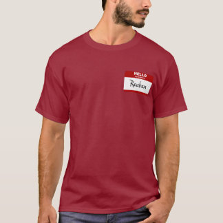 Hello My Name Is Reuben (Red) T-Shirt