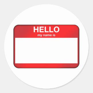 Hello My Name Is... Round Sticker