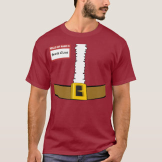 Hello My Name is Santa Claus Suit Front Customize! T-Shirt