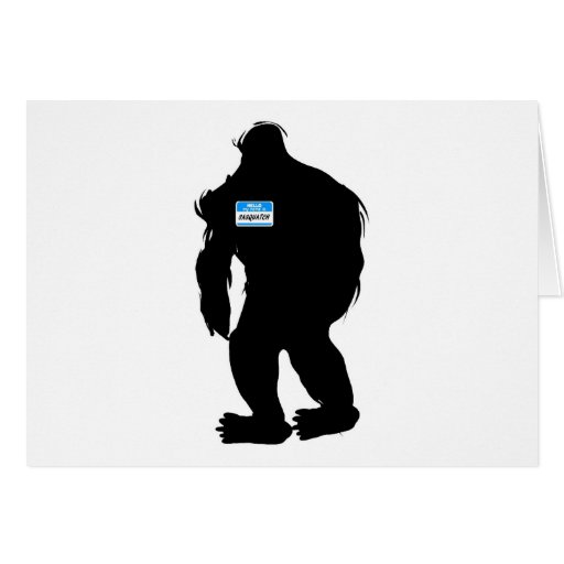 Hello-My Name Is Sasquatch Cards