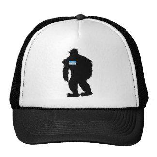 Hello-My Name Is Sasquatch Trucker Hats