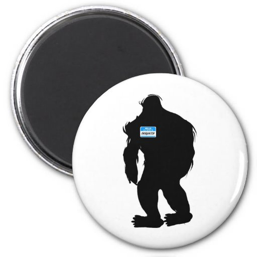 Hello-My Name Is Sasquatch Refrigerator Magnet