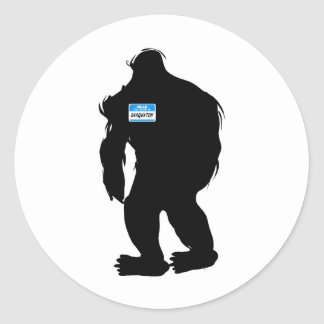 Hello-My Name Is Sasquatch Round Sticker