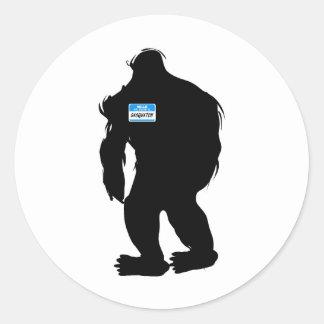 Hello-My Name Is Sasquatch Round Sticker