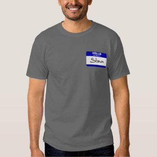 Hello My Name Is Shawn (Blue) Tshirts