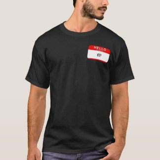 Hello My Name is TEMPLATE (RED) T-Shirt