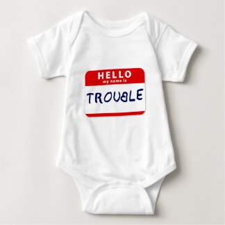 Hello My Name Is Trouble Baby Bodysuit
