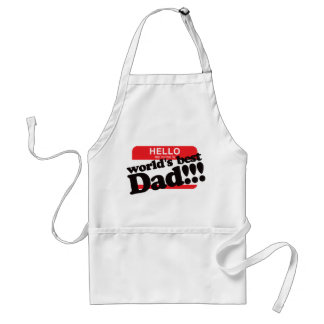 Hello My Name Is World's Best Dad Standard Apron