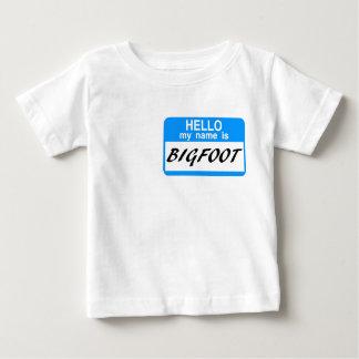 Hello Name Tag BigFoot T Shirt