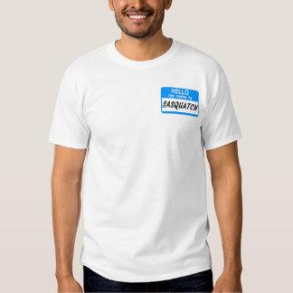 Hello Name Tag Sasquatch Shirt