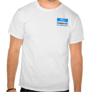Hello Name Tag Sasquatch T-shirt