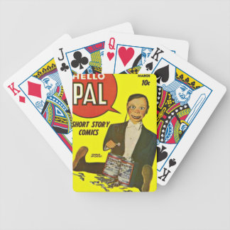Hello Pal #2 Charlie McCarthy Cover Art Bicycle Playing Cards