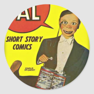 Hello Pal #2 Charlie McCarthy Cover Art Classic Round Sticker