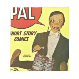 Hello Pal #2 Charlie McCarthy Cover Art Notepad