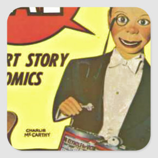 Hello Pal #2 Charlie McCarthy Cover Art Square Sticker