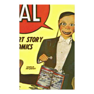 Hello Pal #2 Charlie McCarthy Cover Art Stationery