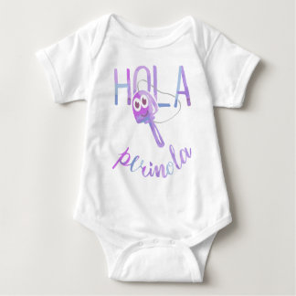 Hello Perinola Phrases of Venezuela Purpura Baby Bodysuit