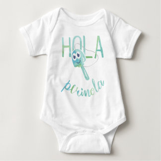 Hello Perinola Watercolor Venezuelan Phrases Baby Bodysuit
