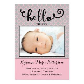 hello pink photo - Birth Announcement