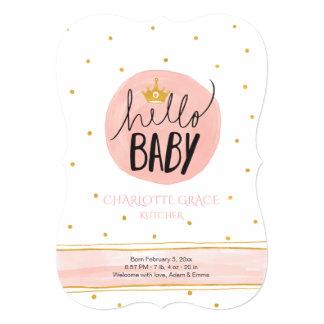 Hello Princess Birth Announcement