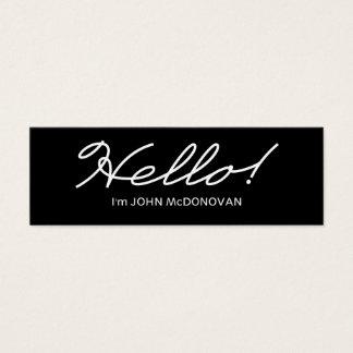 Hello! Profile Business Card