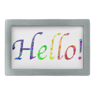 hello! rectangular belt buckles