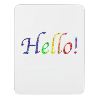 Hello! Room Sign