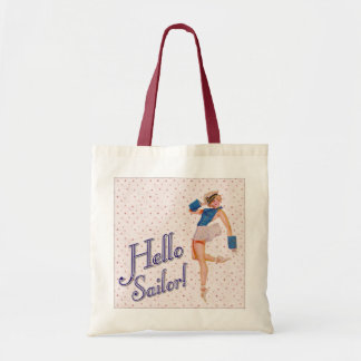 Hello Sailor Pin-up Girl Tote Bag