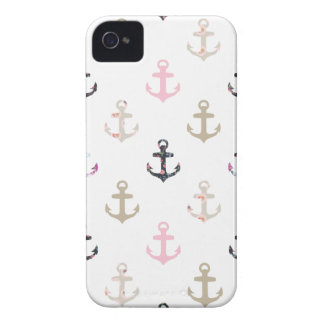 Hello Sailor! Retro Vintage Girly Nautical Anchors Case-Mate iPhone 4 Cases