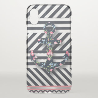 Hello Sailor! Retro Vintage Nautical Floral Anchor iPhone X Case