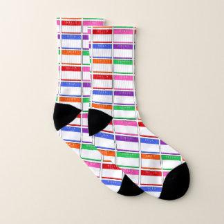 Hello Salut Ciao Hola Men Women Socks 1